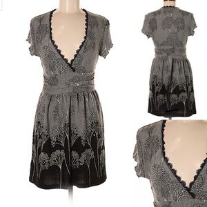 Anthro Funky people gray/black pullover dress sz M